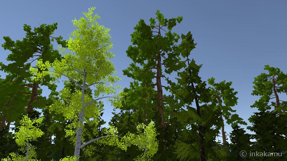 Unity trees - inkakamu